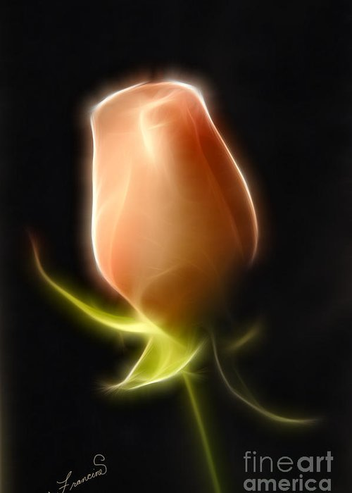 Rose Greeting Card featuring the painting The Rose by Francine Dufour Jones