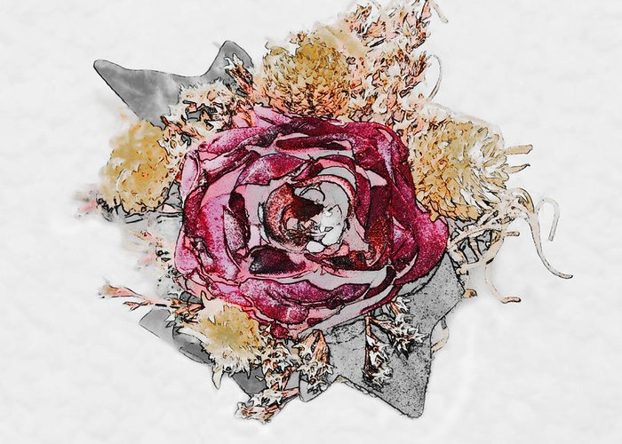 Flowers Greeting Card featuring the photograph The Rose by Susan Leggett