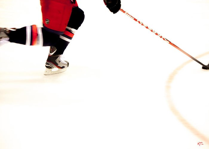 Hockey Greeting Card featuring the photograph The Rush by Karol Livote