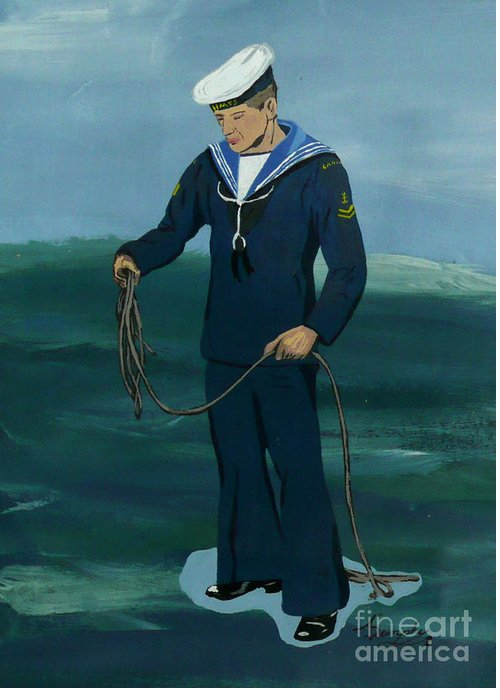 Sailor Greeting Card featuring the painting The Sailor by Anthony Dunphy