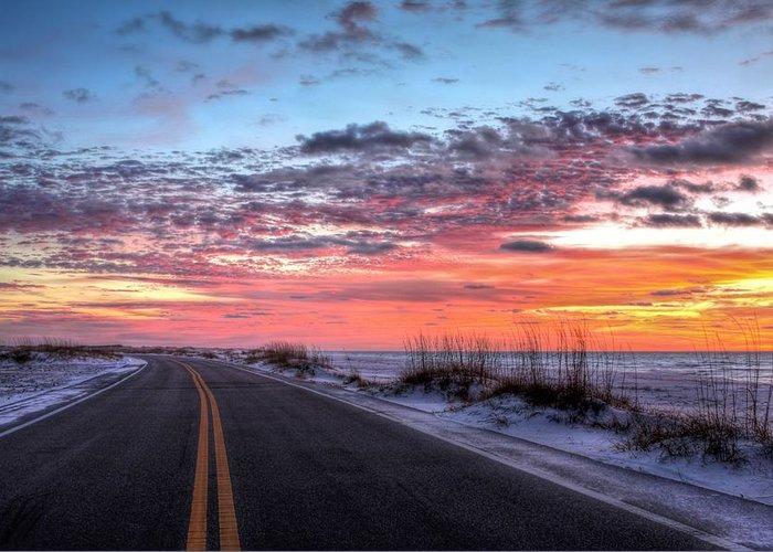 Florida Panhandle Sunset Greeting Cards