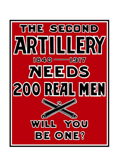 World War I Greeting Card featuring the painting The Second Artillery Needs 200 Real Men by War Is Hell Store