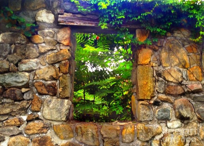 Secret Greeting Card featuring the photograph The Secret Window 1 by Becky Lupe