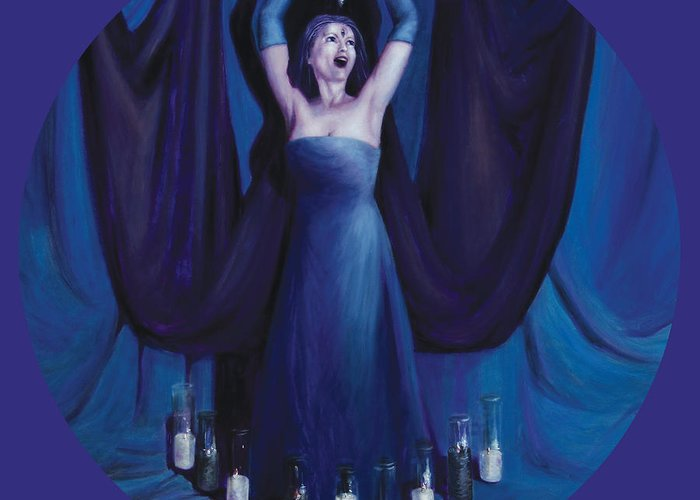 Shelley Irish Greeting Card featuring the painting The Seer by Shelley Irish