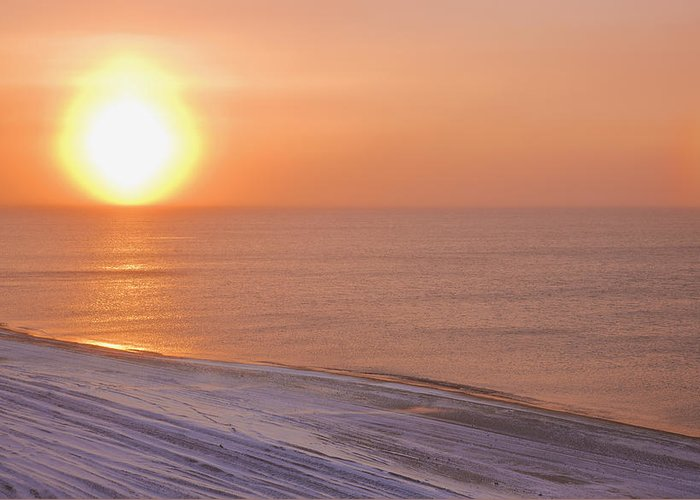 Sundog Greeting Card featuring the photograph The Setting Sun Shining Through by Kevin Smith
