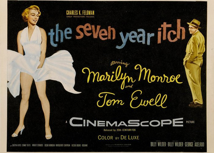 The Seven Year Itch Greeting Card featuring the digital art The Seven Year Itch by Georgia Fowler