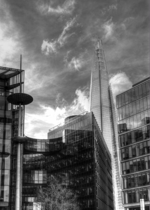 London Shard Greeting Card featuring the photograph The Shard by Chris Day