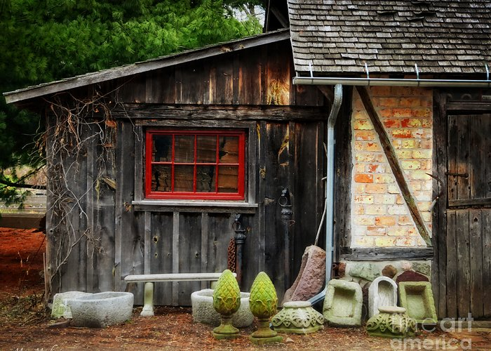 The Shed At Monches Farm Greeting Card featuring the photograph The Shed At Monches Farm by Mary Machare