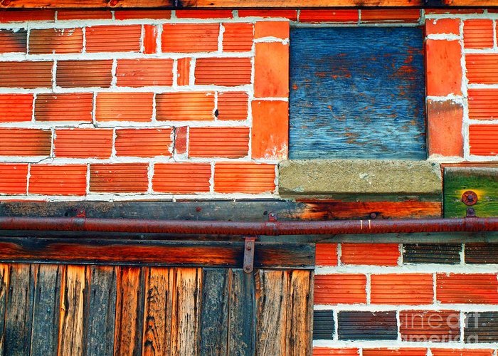 Brick Greeting Card featuring the photograph The Shed by Tara Turner