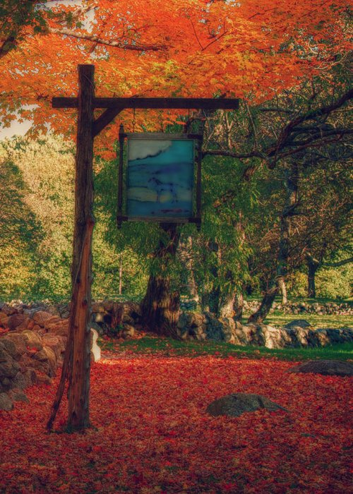 autumn Foliage New England Greeting Card featuring the photograph The Sign Of Fall Colors by Jeff Folger