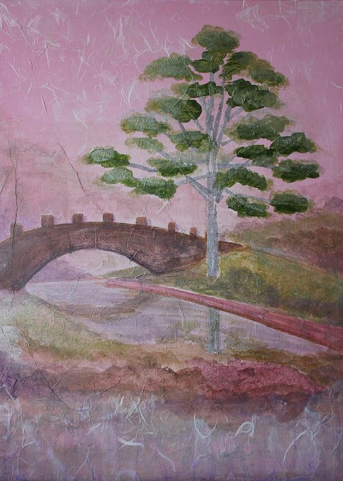 Tree Greeting Card featuring the painting The Silver Tree by Catherine Sprague