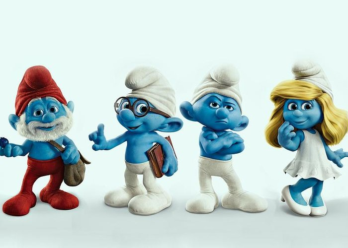 Smurfette Greeting Cards