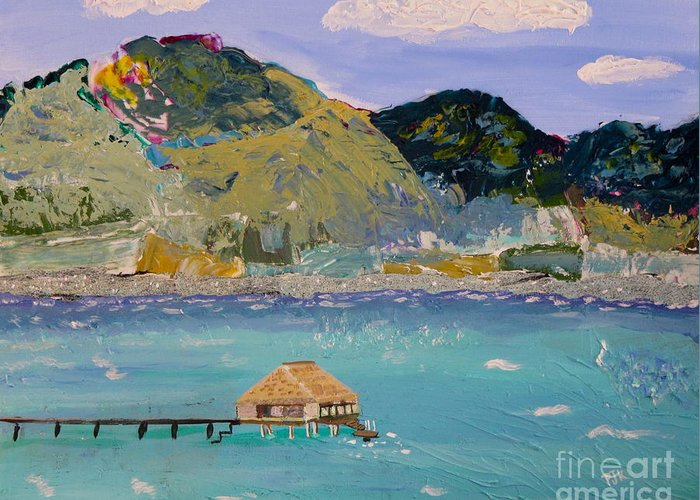 Mountains Greeting Card featuring the painting The South Seas by Phyllis Kaltenbach