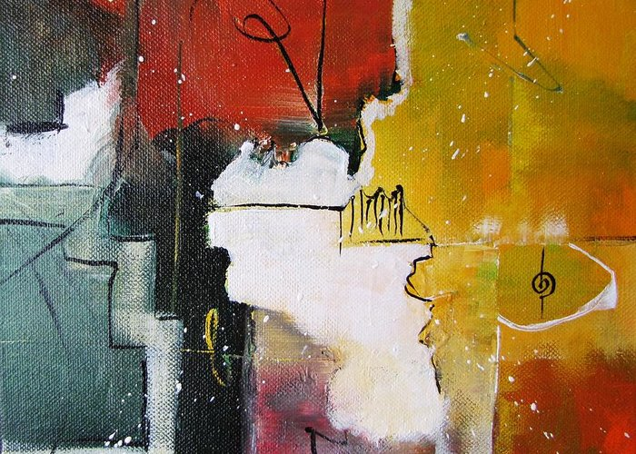 Abstract Artwork Greeting Card featuring the painting The Spirit by Gary Smith