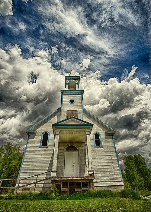 Architecture Greeting Card featuring the photograph The Squaw Bay Church by Jakub Sisak