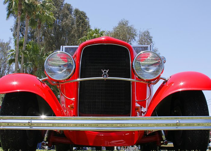 V8 Greeting Card featuring the photograph The Stare Of A V8 by Shoal Hollingsworth