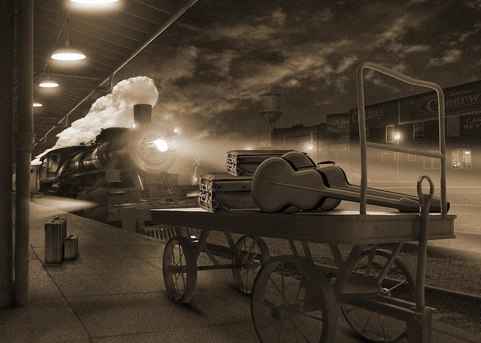 Transportation Greeting Card featuring the photograph The Station 2 by Mike McGlothlen