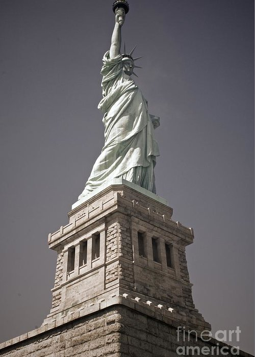 Attraction Greeting Card featuring the photograph The Statue Of Liberty by Jordan Conner