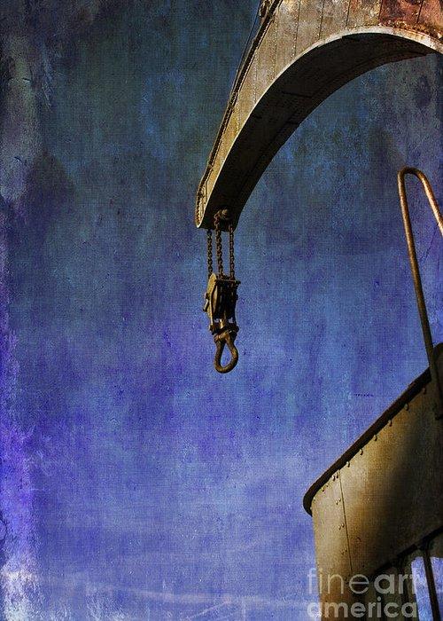 Fairbairn Steam Crane Greeting Card featuring the photograph The Steam Crane by Brian Roscorla