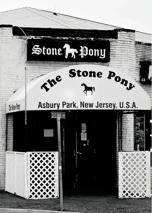 Stone Pony Greeting Card featuring the photograph The Stone Pony Asbury Park NJ by Terry DeLuco