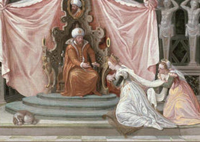 Purim Paintings Greeting Cards