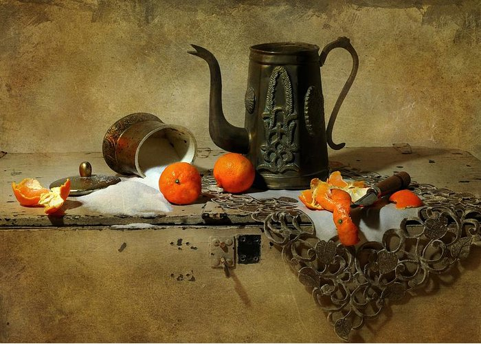 Still Life Greeting Card featuring the photograph The Sugar Bowl by Diana Angstadt