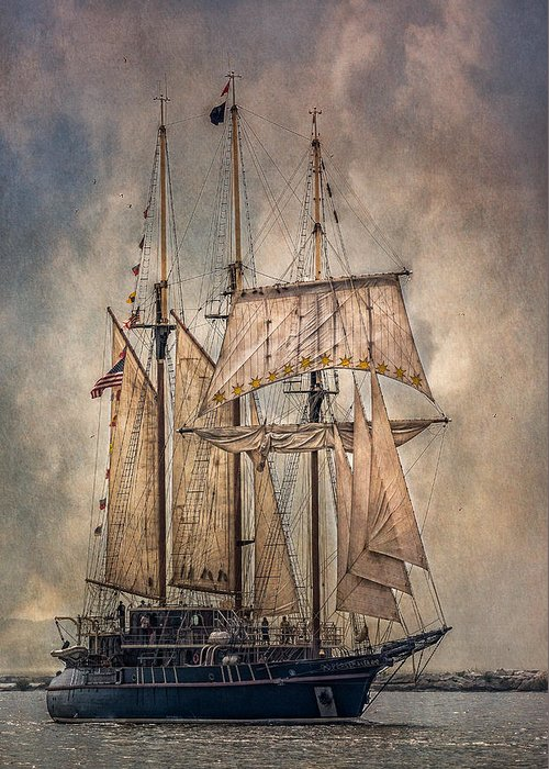 Peacemaker Greeting Card featuring the photograph The Tall Ship Peacemaker by Dale Kincaid