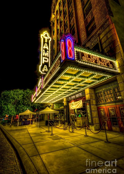 Tampa Movie Theater Greeting Card featuring the photograph The Tampa Theater by Marvin Spates