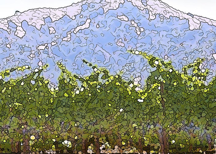 Cour De Valle Vineyard Greeting Card featuring the painting The Taste Of Wine by Artist and Photographer Laura Wrede