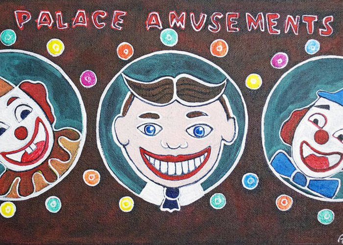 Asbury Park Greeting Card featuring the painting The Three Amigos by Patricia Arroyo