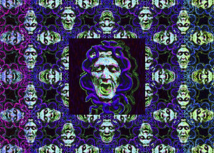 Medusa Greeting Card featuring the photograph The Three Medusas 20130131 - Horizontal by Wingsdomain Art and Photography