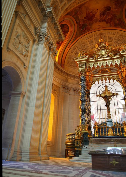 Paris Greeting Card featuring the photograph The Tombs At Les Invalides - Paris France - 01135 by DC Photographer