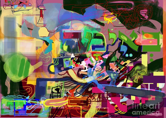 Torah Greeting Card featuring the digital art the Torah is aquired with awe 5 by David Baruch Wolk