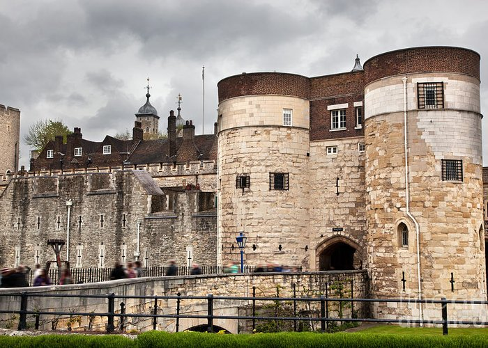 London Greeting Card featuring the photograph The Tower Of London Uk The Historic Royal Palace And Fortress by Michal Bednarek