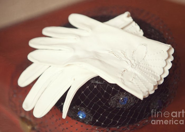 Clothing Greeting Card featuring the photograph The Trip-the Gloves by Kay Pickens