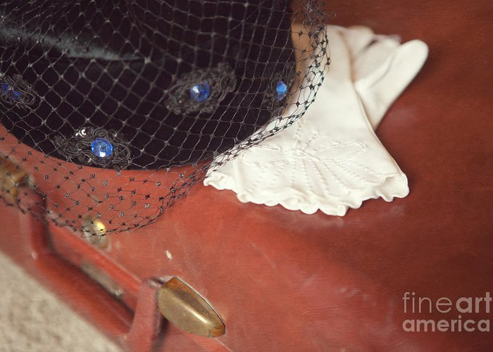 Clothing Greeting Card featuring the photograph The Trip-the Suitcase by Kay Pickens