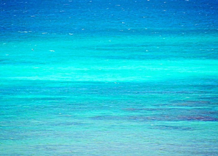 Ocean Greeting Card featuring the photograph The Turquoise Sea by Beach Bum Chix