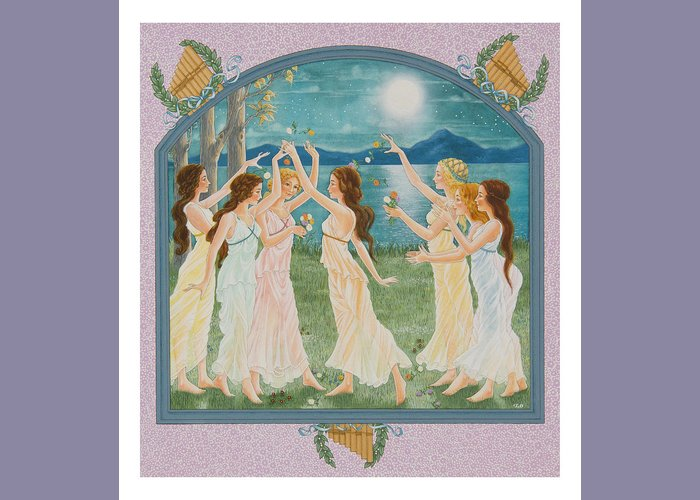 Fairy Tale Greeting Card featuring the painting The Twelve Dancing Princesses by Lynn Bywaters