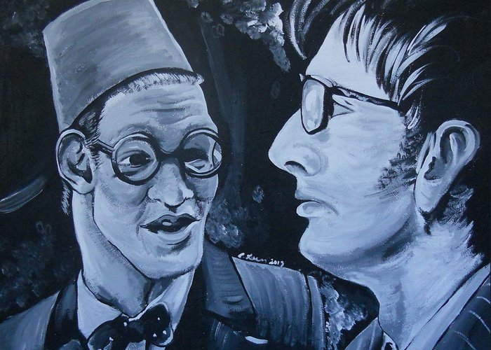 Doctor Greeting Card featuring the painting The Two Doctors by Lisa Leeman