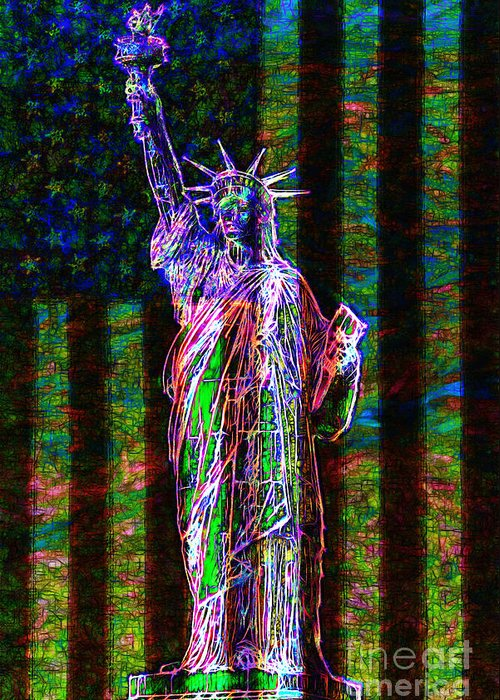 Flag Greeting Card featuring the photograph The United States Of America 20130115 by Wingsdomain Art and Photography