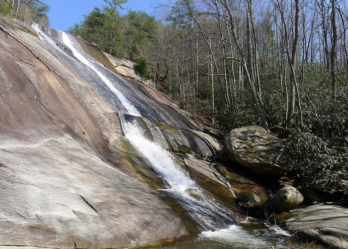 Stone Mountain Greeting Card featuring the photograph The Upper Cascade by Joel Deutsch