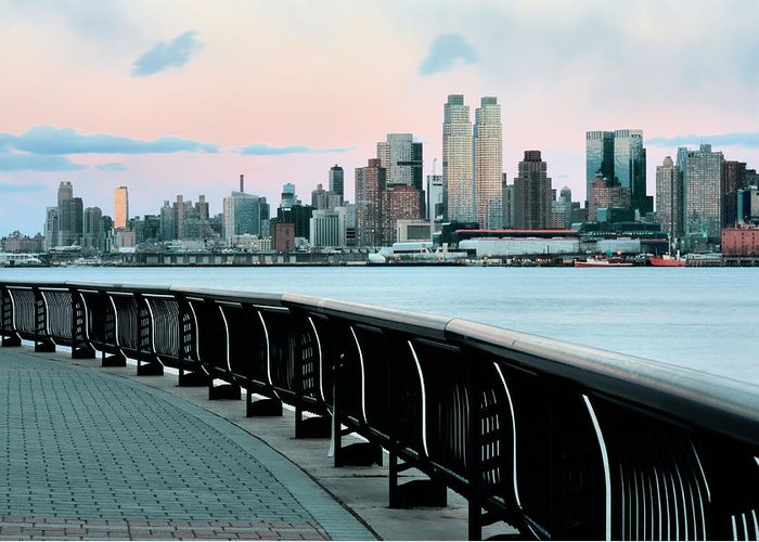 Hoboken Greeting Card featuring the photograph The Upper West Side by JC Findley