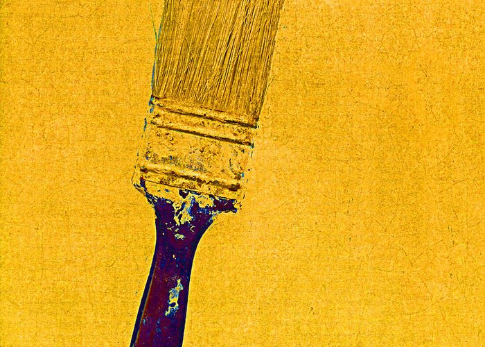 Still Life Greeting Card featuring the mixed media The Used Paintbrush by Bob RL Evans