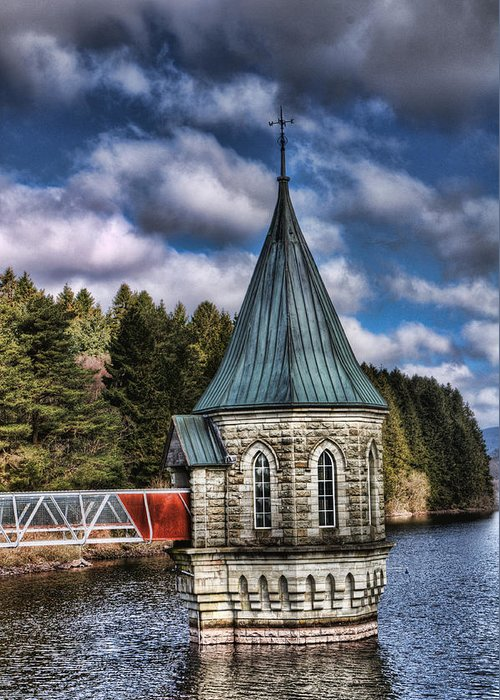 The Valve Tower Greeting Card featuring the photograph The Valve Tower by Steve Purnell