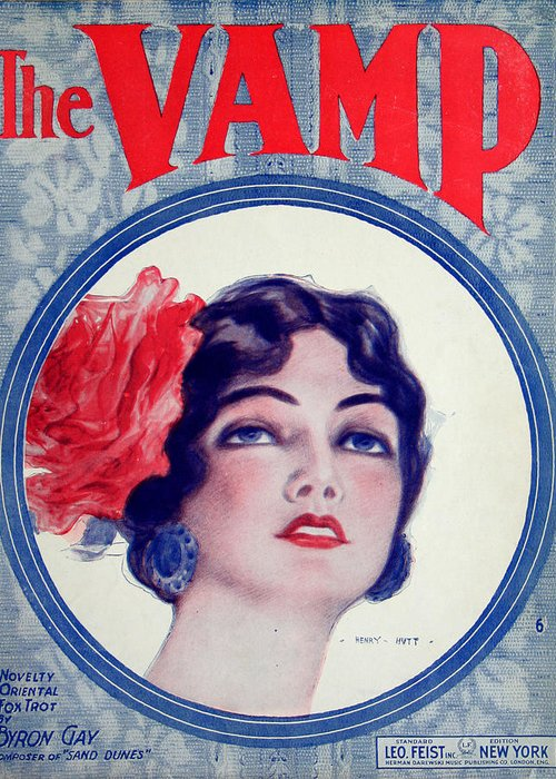 Sheet Music Greeting Card featuring the photograph The Vamp by Ric Bascobert
