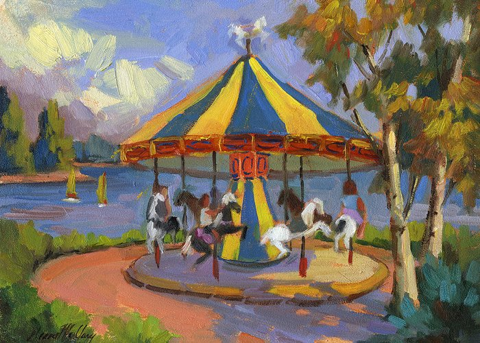 Carousel Horse Paintings Greeting Cards