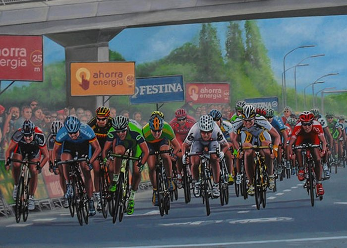 The Vuelta Greeting Card featuring the painting The Vuelta by Paul Meijering