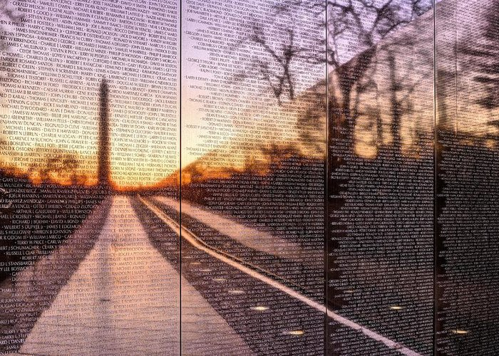 Vietnam Wall Greeting Card featuring the photograph The Wall by JC Findley