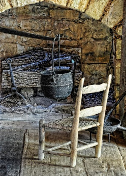 Still Life Greeting Card featuring the photograph The Warming Place by Jan Amiss Photography