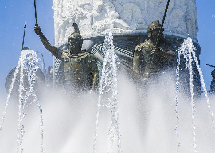 Statue Photographs Greeting Card featuring the photograph The Warriors by Sotiris Filippou